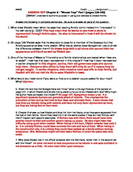 MAUS Chapter 6 Questions - Common Core Aligned