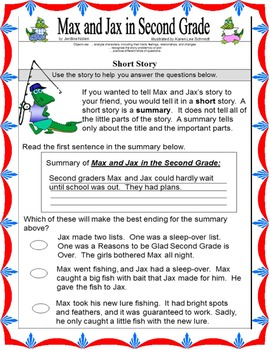 MAX AND JAX IN SECOND GRADE!  Easy Chapter Book!  Twins!