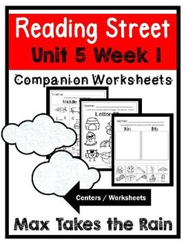 Kindergarten. Max Takes The Rain. Unit 5 Week 1 Reading Street