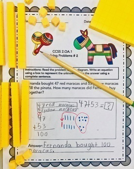 MAY - 2ND GRADE MATH WORD PROBLEMS IN ENGLISH - CCSS 2.OA.1