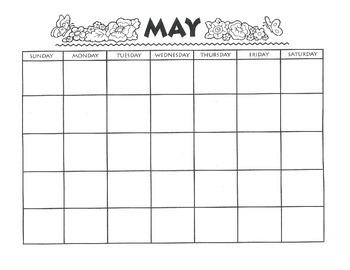 MAY CALENDAR - Free Download - Writing Theme