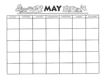MAY CALENDAR - Free Download - Writing Theme