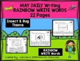 MAY - Daily Writing - RAINBOW WRITE Words