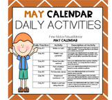 MAY Fine Motor/Visual Motor (Daily Activities)