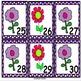 May Flowers Calendar Number Set
