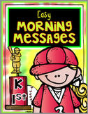 May Kindergarten First Grade Morning Messages