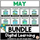 MAY - Literacy & Math Fun {Google Slides™/Classroom™}