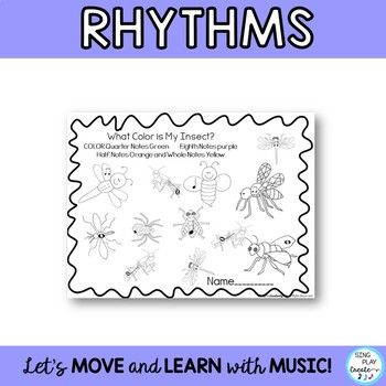 May Music Class Composition, Rhythm, Melody, Symbols Worksheets