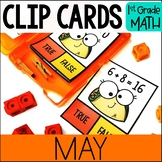 MAY Math Centers - Clip Card Task Boxes 1st Grade