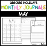 MAY: Monthly PRINT & GO Foldable Writing Journals: Obscure