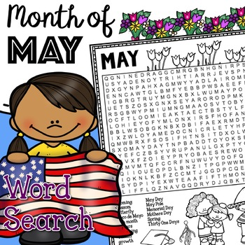 MAY - Months of the Year Word Search Activity