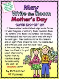 MAY Mother's Day - Write the Room - Sight Words - EASY & EDITABLE