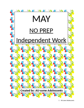 MAY- NO PREP Independent Work
