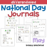 MAY National Days Differentiated Journals for special education
