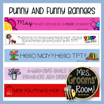 MAY'S PUNNY AND FUNNY TPT BANNERS