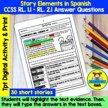 MAY READING COMPREHENSION: STORY ELEMENTS IN SPANISH