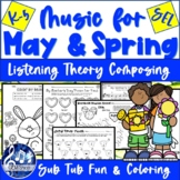 MAY SPRING MUSIC Activities Theory Listening Coloring Song