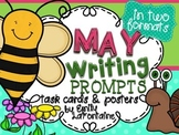 MAY Writing Prompts (30 count) - task cards and posters *Mother's Day*