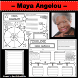 MAYA ANGELOU Research Project Timeline Poster Biography Organizer