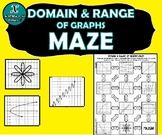 INB ACTIVITY MAZE - Algebra - Domain & Range of Graphs