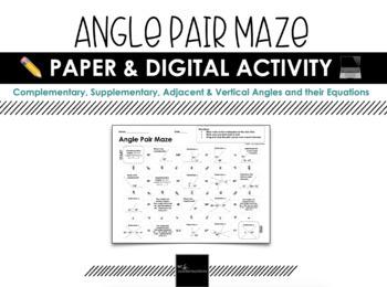 MAZE - Angle Pairs