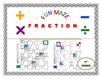 MAZE - FRACTIONS