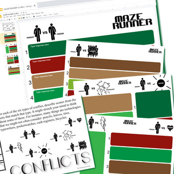 MAZE RUNNER Conflict Graphic Organizer (Created for Digital)