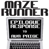 THE MAZE RUNNER Epilogue Response Activity