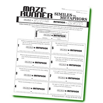 THE MAZE RUNNER Figurative Language Bundle