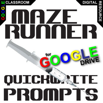 MAZE RUNNER Journal - Quickwrite Writing Prompts (Created for Digital)