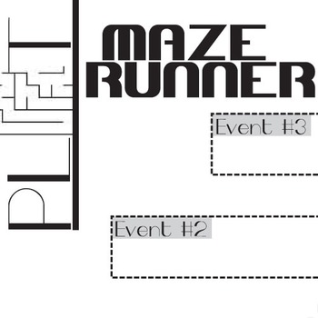 THE MAZE RUNNER Plot Chart Organizer Diagram Arc (Dashner) - Freytag's Pyramid