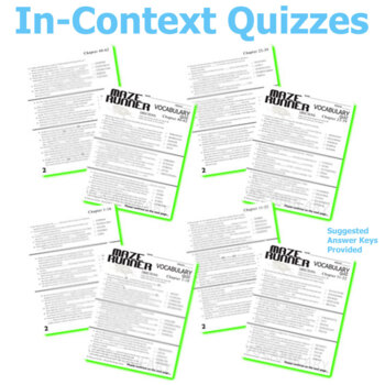 THE MAZE RUNNER Vocabulary Complete Novel (120 words)