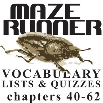 THE MAZE RUNNER Vocabulary List and Quiz (chap 40-62)