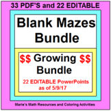 MAZES - DESIGN YOUR OWN MAZES - PDF's AND 24 POWERPOINT EDITABLE MAZES