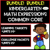 Math Expressions Common Core Challenge Packets and Learning Targets Bundled!