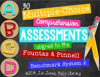 M/C Comprehension Assessments for F&P BAS Kit 2 Books {Grade Level License}