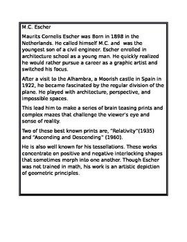 M.C. Escher Bio for Kids