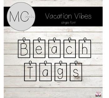 MC Fonts - Beach Tag