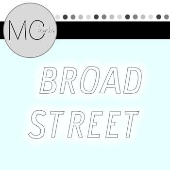 MC Fonts - Broad Street