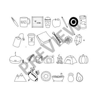 MC Fonts - Favorite Things Doodles