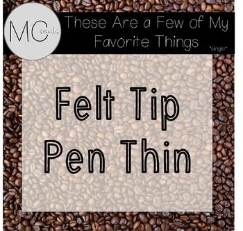 MC Fonts - Felt Tip Pen Thin