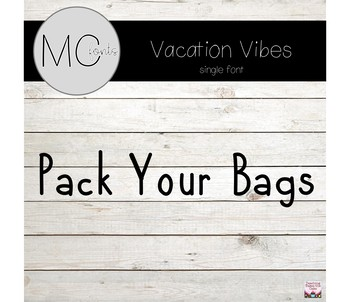 MC Fonts - Pack Your Bags