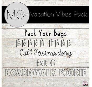 MC Fonts Vacation Vibes Font Pack