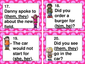 MC GRAW-HILL WONDERS aligned: ROCK ON! Grammar Task Cards and/or Scoot Games #5