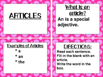 MC GRAW-HILL WONDERS aligned: ROCK ON! Grammar Task Cards and/or Scoot Games #6
