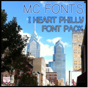 MC I HEART PHILLY FONT PACK