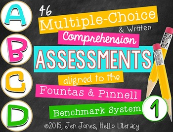 M/C & Written Comprehension Assessments for F&P BAS Kit 1 Books