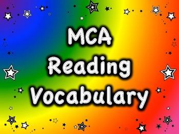 MCA Reading Standardized Test Vocabulary, All Standards Grade 3