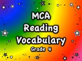MCA Reading Standardized Test Vocabulary, All Standards Grade 4