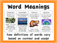 MCA Reading Standardized Test Vocabulary, All Standards Grade 4